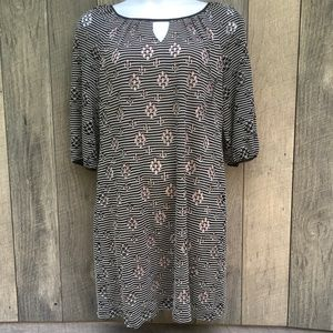 Madison Leigh Midi Eyelet Dress 2 Layer Sz 14
